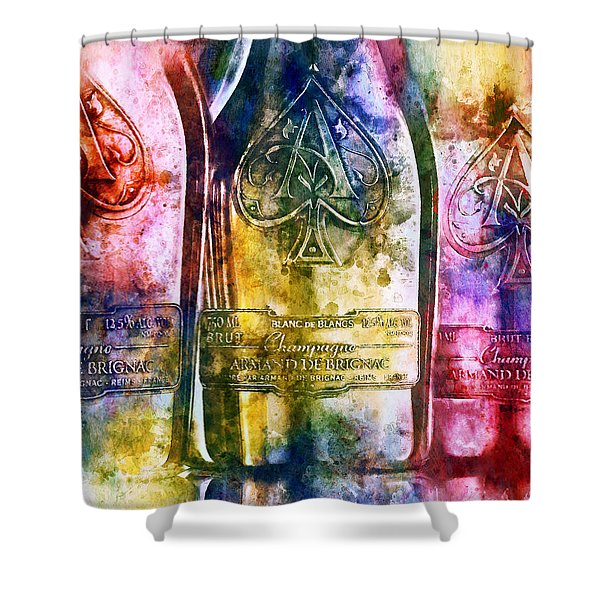 Colorful Champagne Shower Curtain