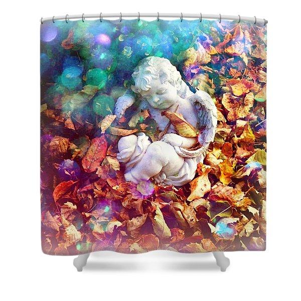 Colorful Cherub Shower Curtain