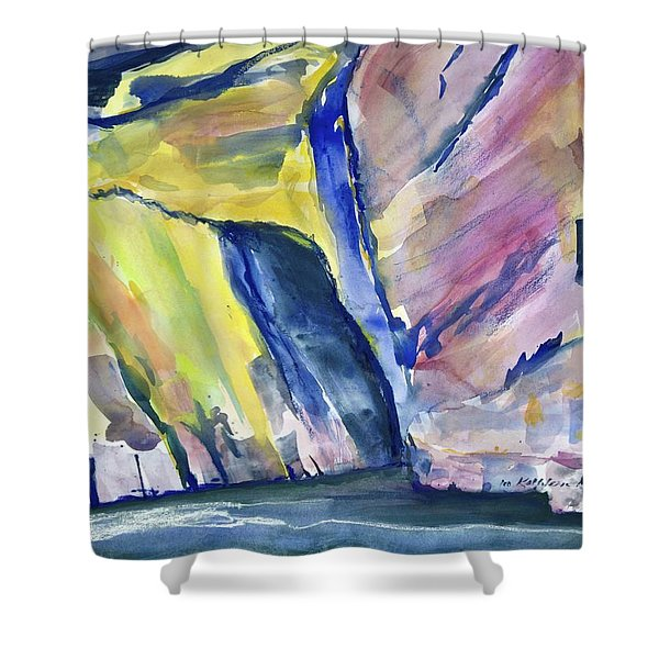 Colorful Cliffs And Cave Shower Curtain