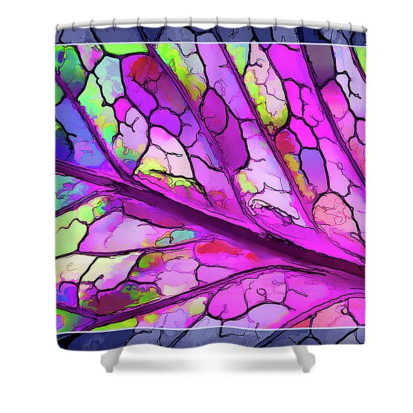 Colorful Coleus Abstract 3 Shower Curtain