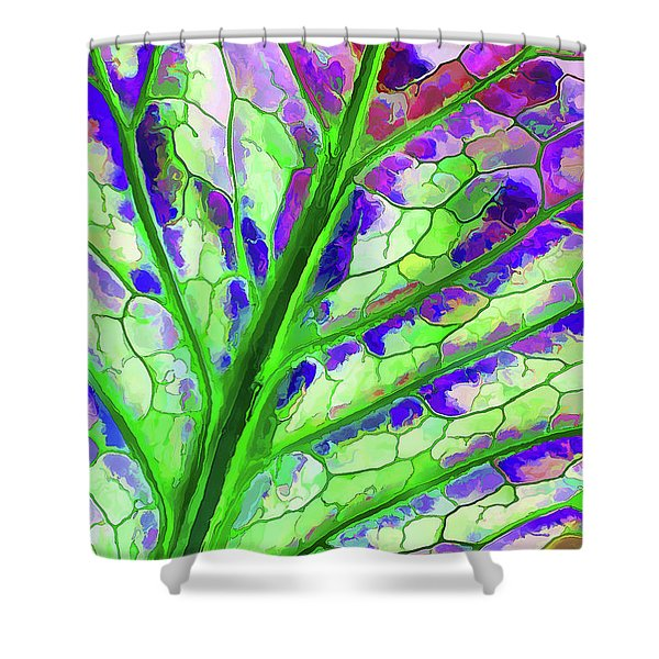 Colorful Coleus Abstract 4 Shower Curtain