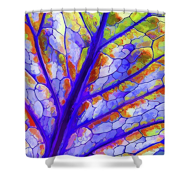 Colorful Coleus Abstract 6 Shower Curtain