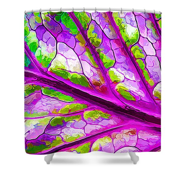Colorful Coleus Abstract 2 Shower Curtain