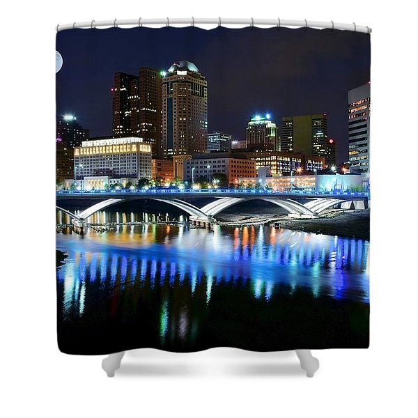 Colorful Columbus Shower Curtain