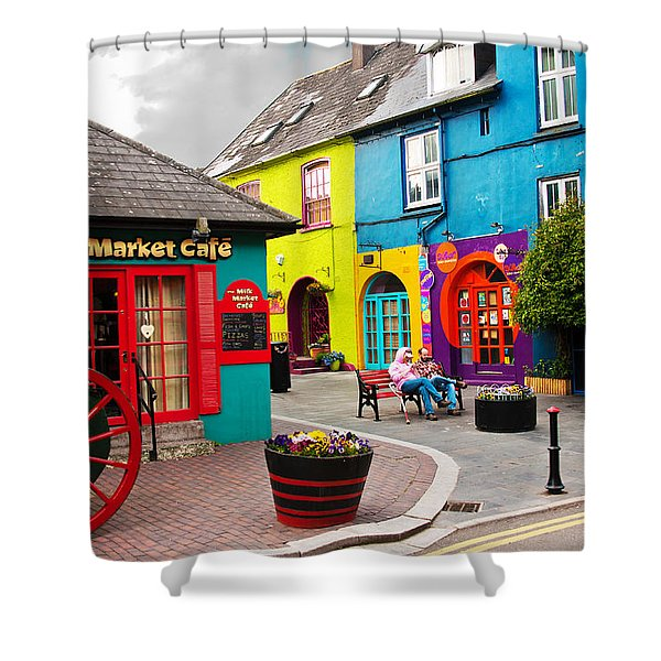 Colorful Corner Shower Curtain
