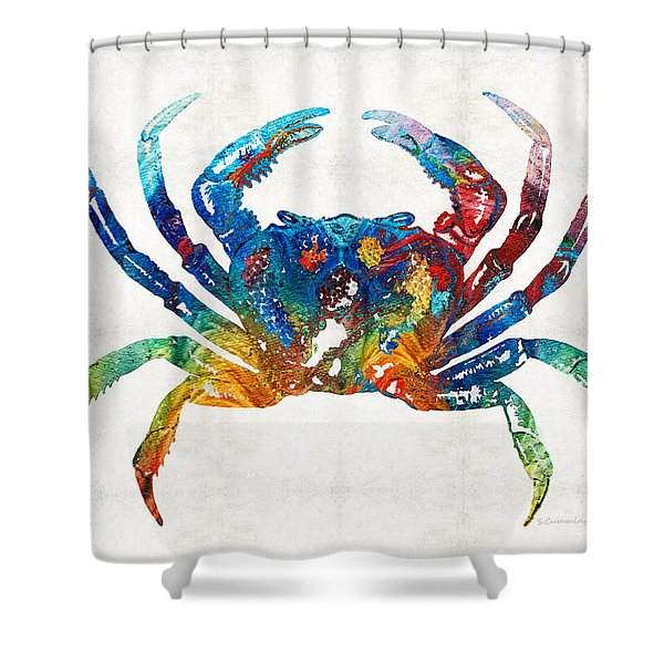Colorful Crab Art By Sharon Cummings Shower Curtain