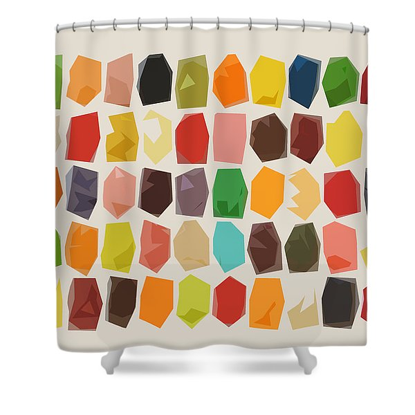 Colorful Crystal Abstract Shower Curtain
