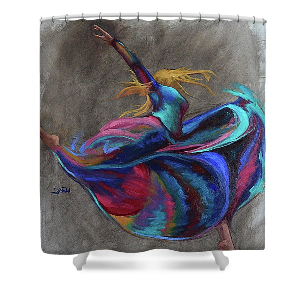 Colorful Dancer Shower Curtain
