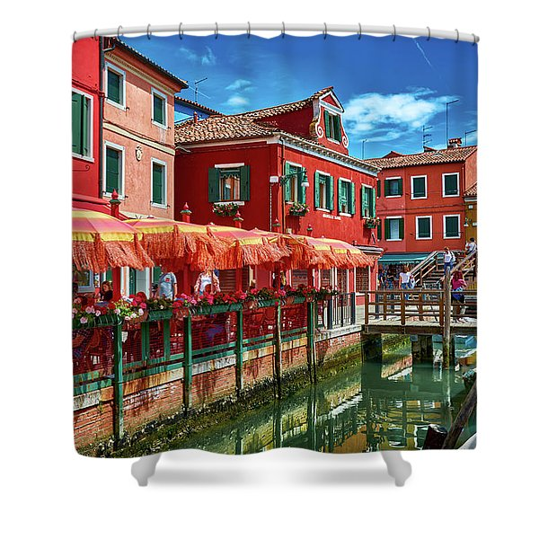 Colorful Day In Burano Shower Curtain