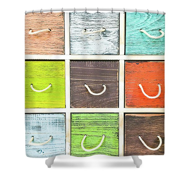 Colorful Drawers Shower Curtain