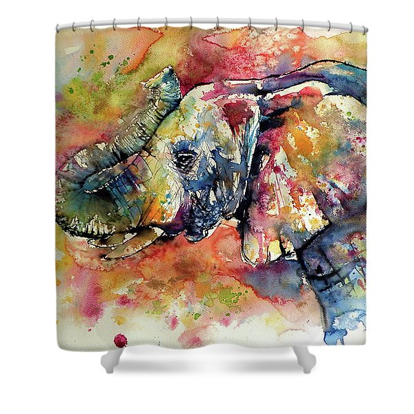 Colorful Elephant II Shower Curtain