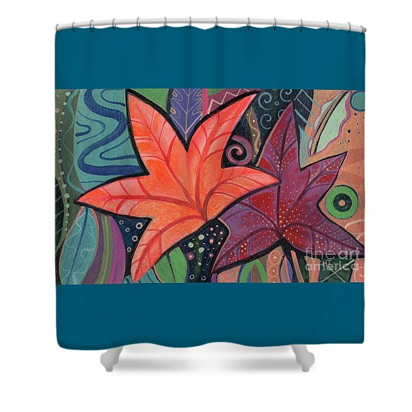 Colorful Fall Shower Curtain