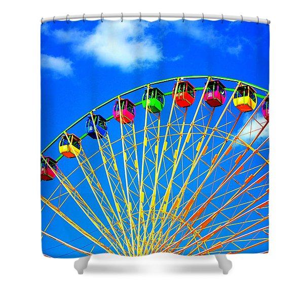 Colorful Ferris Wheel Shower Curtain
