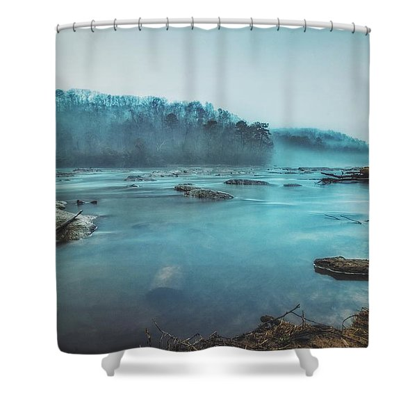 Colorful Fog Shower Curtain