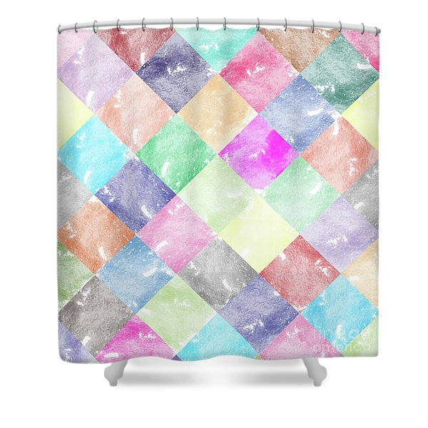 Colorful Geometric Patterns IIi Shower Curtain