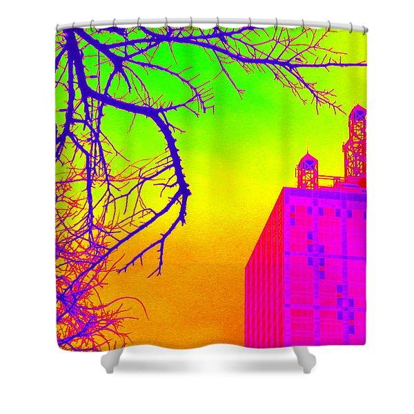 Dallas In Vivid Colors Shower Curtain