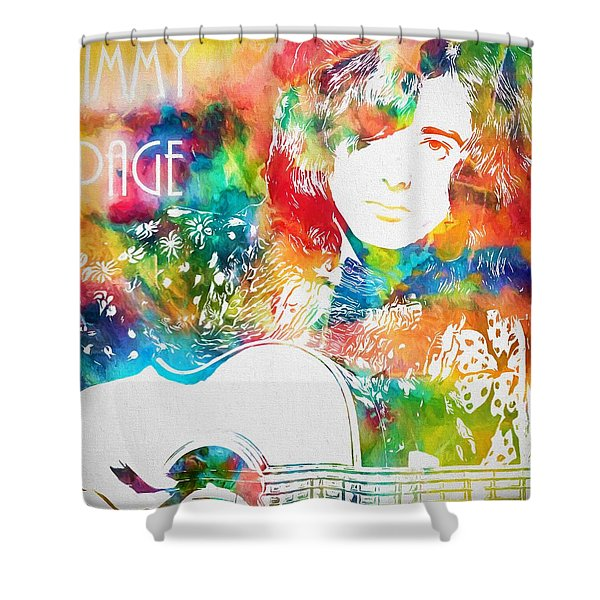 Colorful Jimmy Page Shower Curtain