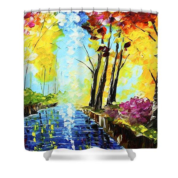 Colorful Landscape Shower Curtain