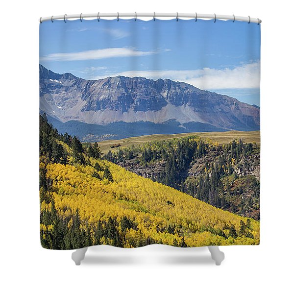 Colorful Mountains Near Telluride Shower Curtain