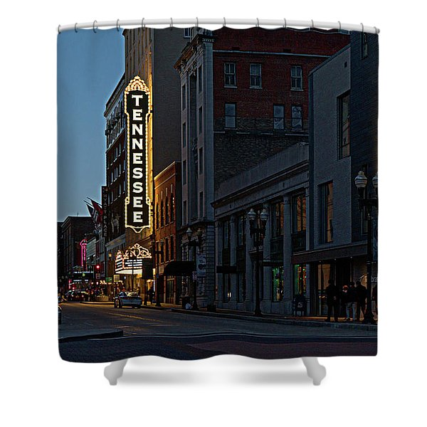 Colorful Night On Gay Street Shower Curtain