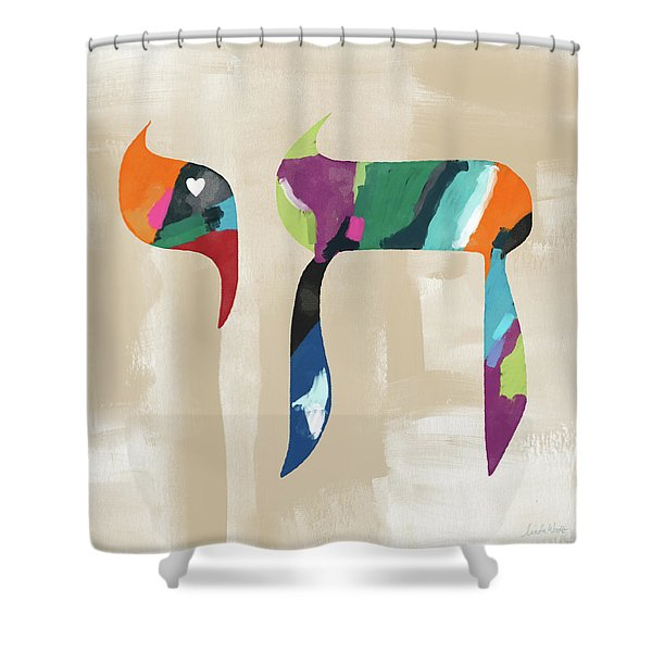 Colorful Painting Chai- Art By Linda Woods Shower Curtain