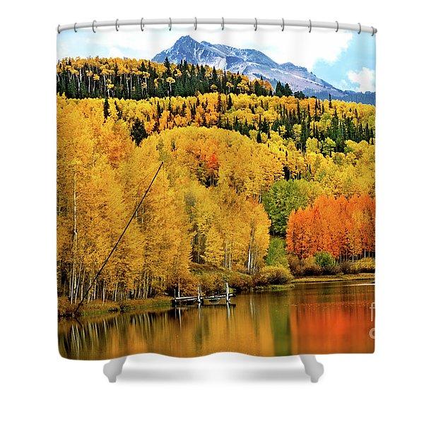 Colorful Peaceful Colorado Shower Curtain