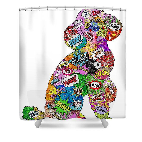 Poodle-icious Shower Curtain