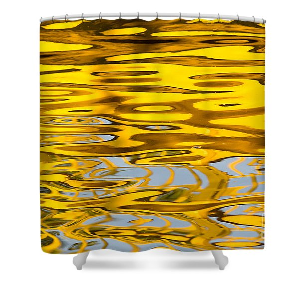 Colorful Reflection In The Water Shower Curtain