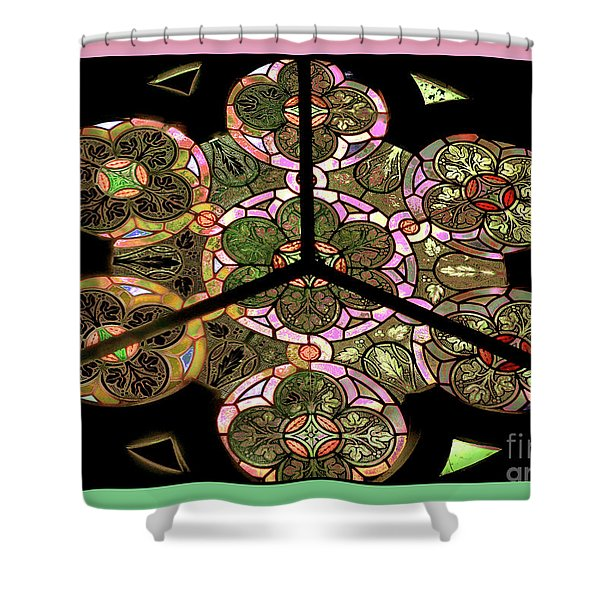 Colorful Rosette In Pink-turquoise Shower Curtain