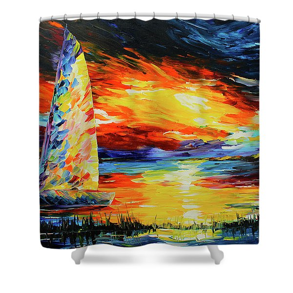 Colorful Sail Shower Curtain