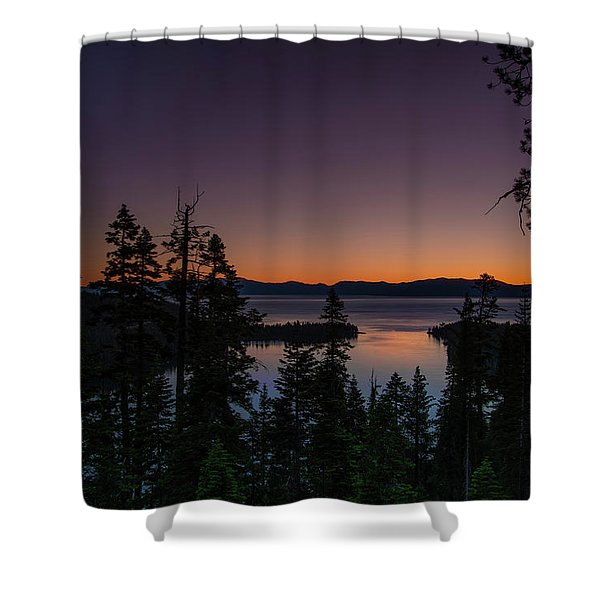 Colorful Sunrise In Emerald Bay Shower Curtain