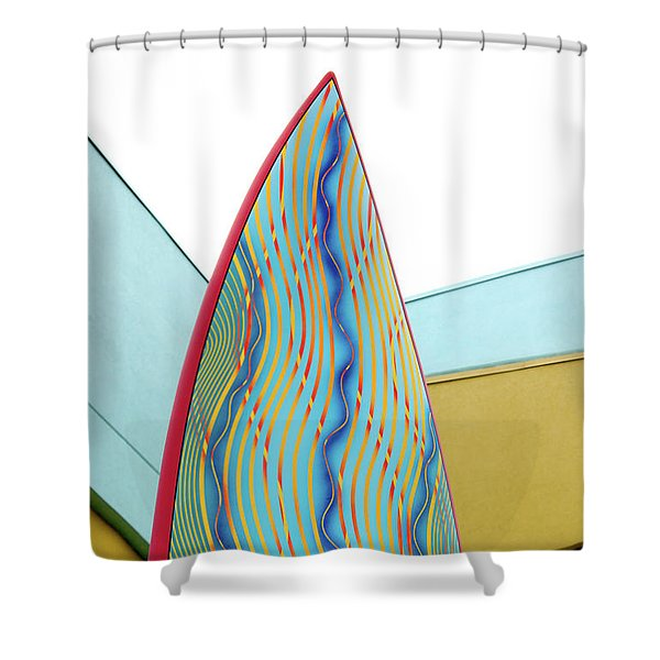 Colorful Surfboard Shower Curtain