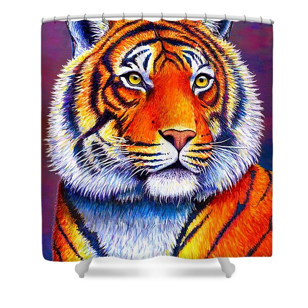 Fiery Beauty - Colorful Bengal Tiger Shower Curtain