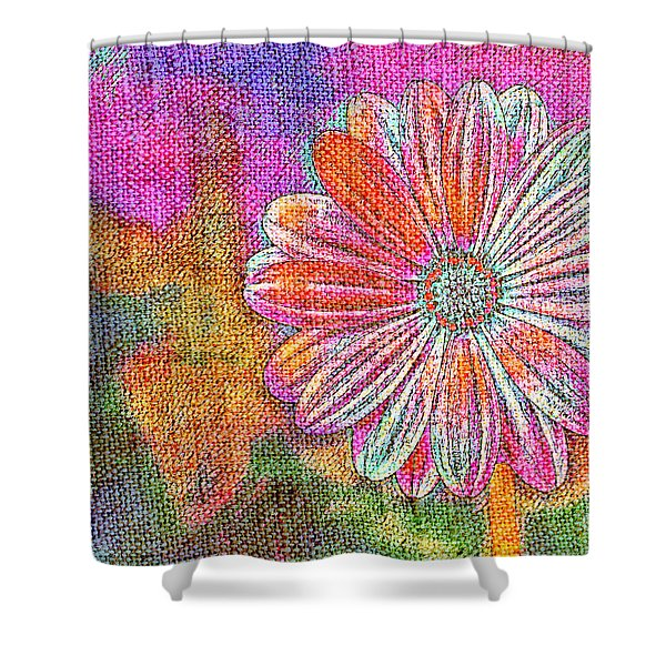 Colorful Watercolor Flower Shower Curtain