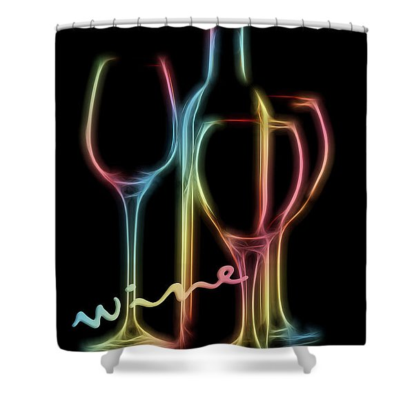 Colorful Wine Shower Curtain