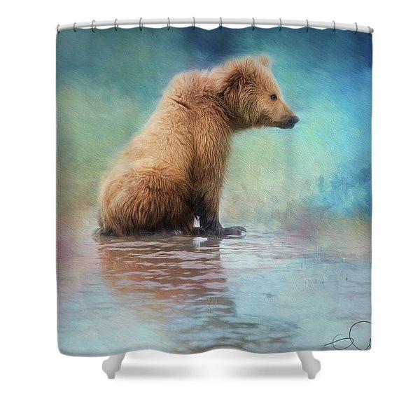 Colorfull Bear Shower Curtain