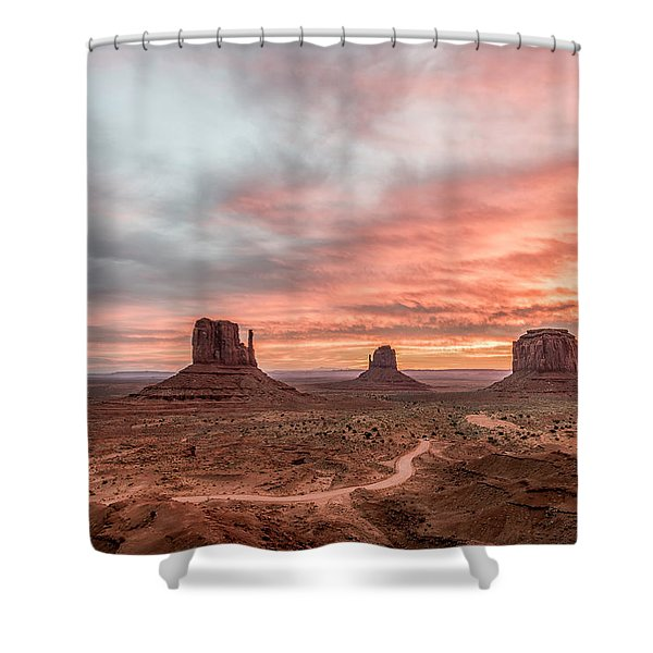 Colors In Monument Shower Curtain