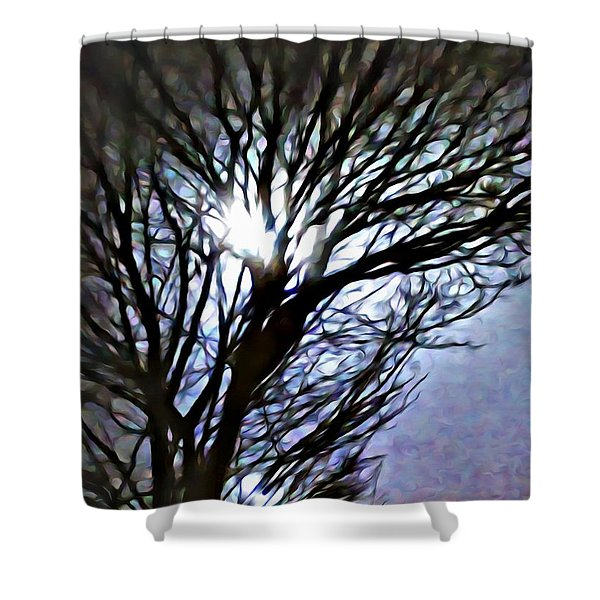 Colors In The Fog Shower Curtain