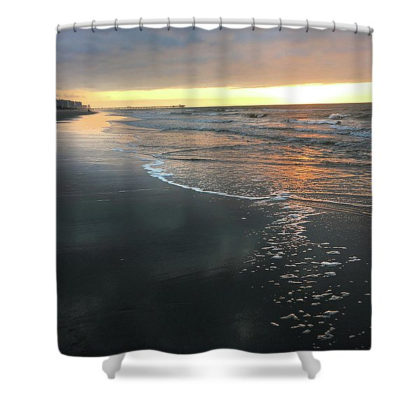 Colors Of A Storm At Sunrise Shower Curtain