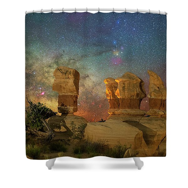 Colors Of Darkness Shower Curtain