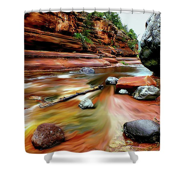 Colors Of Sedona Shower Curtain