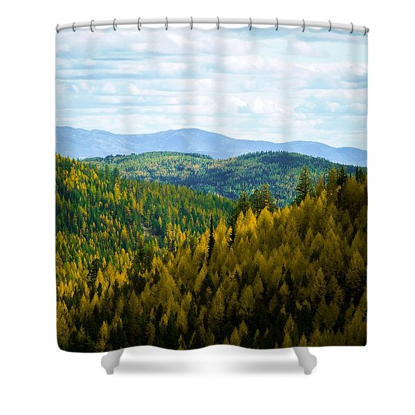 Colors Of Sherman's Pass Shower Curtain