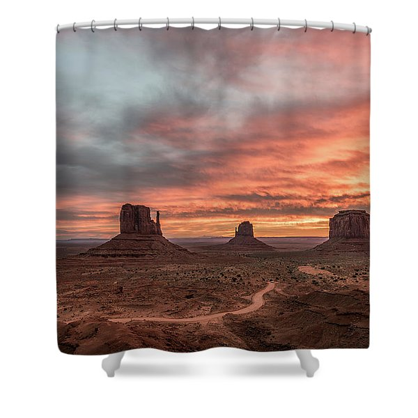 Colors Of The Past Shower Curtain
