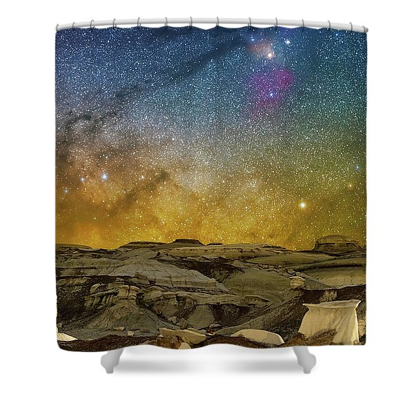 Colors On The Rise Shower Curtain