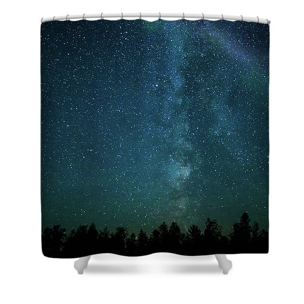 Colors Over The Milky Way Shower Curtain