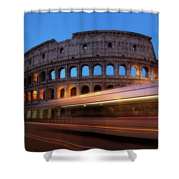 Colosseum Rush Shower Curtain