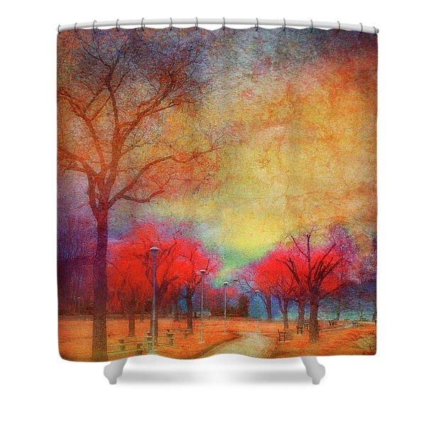 Colour Burst Shower Curtain by Tara Turner