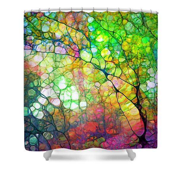 Colour Combustion Shower Curtain