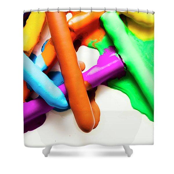 Colourful Crayon Art Shower Curtain