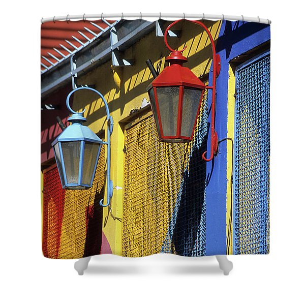 Colourful Lamps La Boca Buenos Aires Shower Curtain